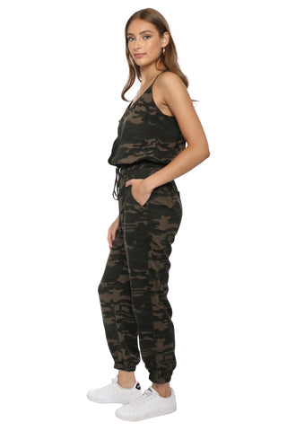 Brooklyn Karma Camo Pocket Jumpsuit