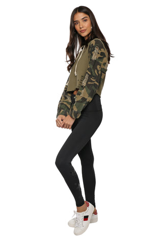 Brooklyn Karma Distress Camo Hoodie