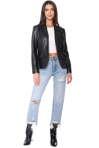 Serious Or Not Vegan Leather Jacket