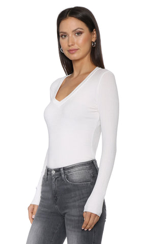 Malibu Beach Basics Long Sleeve V Neck