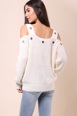 Brooklyn Karma Runaway Cold Shoulder Sweater