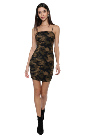 Jordyn Jagger Double Layered Camo Dress