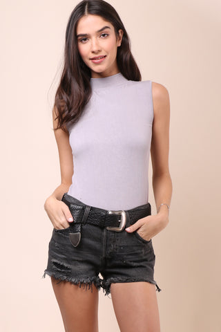 Suzette Ribbed Mock Neck Tank
