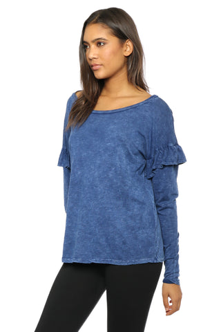 Gab & Kate L/S Ruffle Top