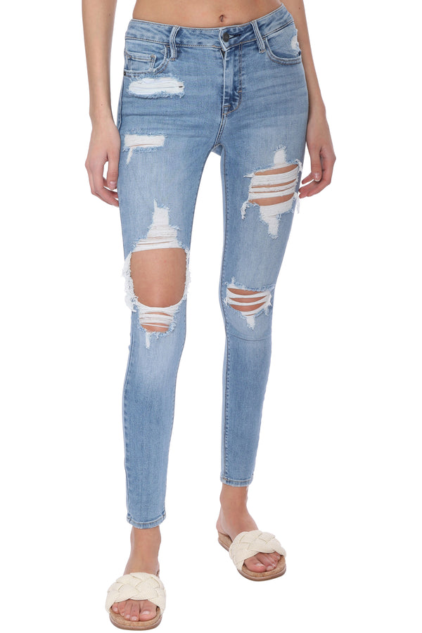 Amelia Medium Wash Mid Rise Skinny