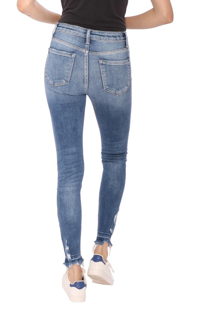Flying Monkey HR Released Distressed Hem Jeans