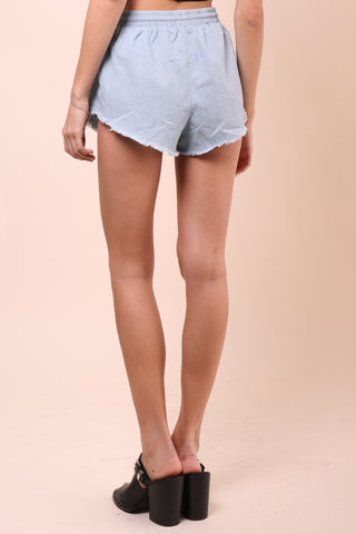 Sunday Stevens Rose Denim Shorts