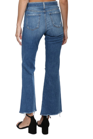 Flying Monkey HR Belted Ankle Flare Denim