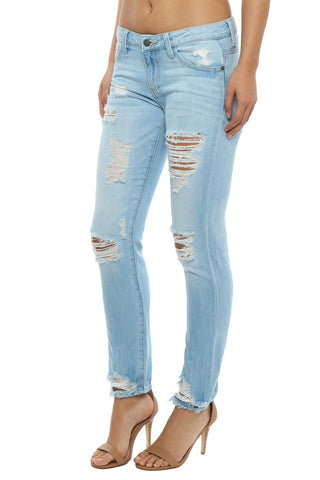 Hidden Light Wash Slim BF Jean