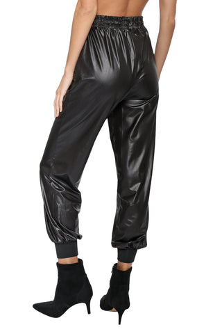 Brooklyn Karma Rock Your World Leather Jogger
