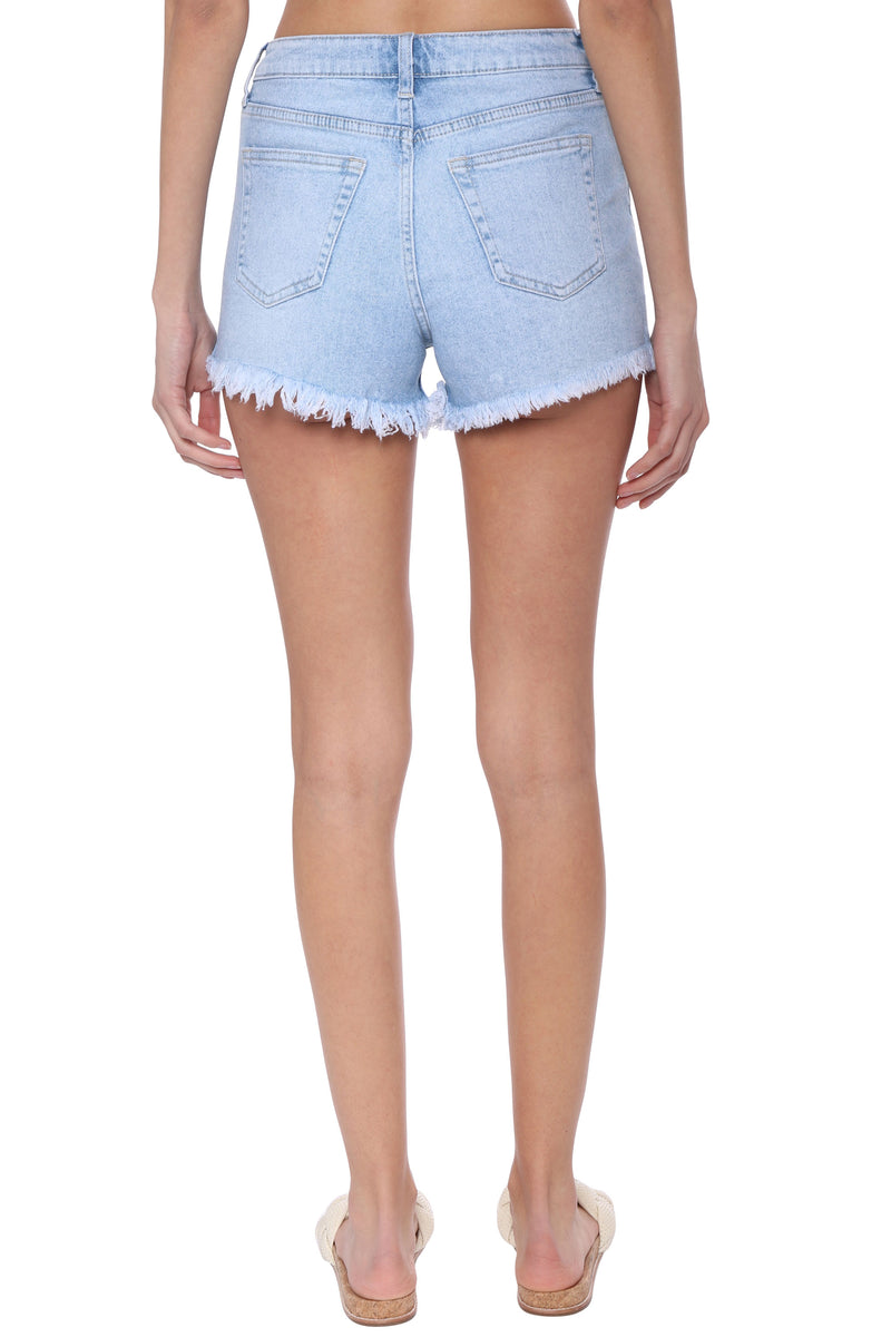High Rise Hight Low Shorts