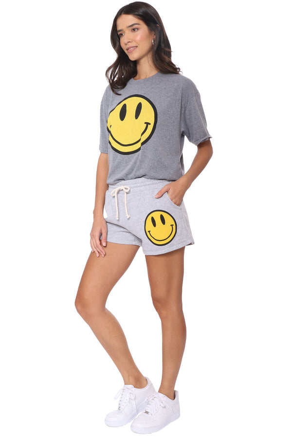 Happy Face Raw Edge Tee