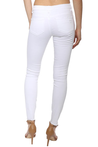 Tractr Blu Basic Fray Ankle Crop Skinny