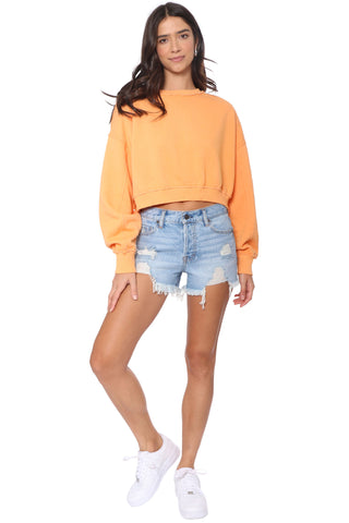 Malibu Beach Basics LS Crew Neck Top