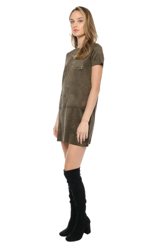 Decker Studded Pocket Dress
