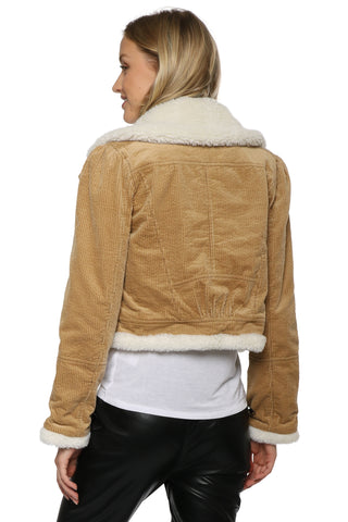 Decker Cropped Corduroy Jacket