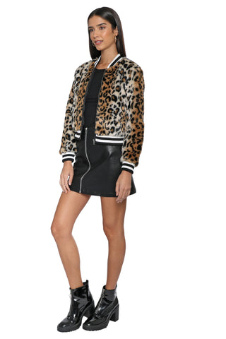 Jack Cat Power Leopard Bomber