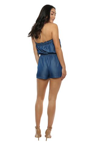 Gab & Kate Chambray Denim Romper