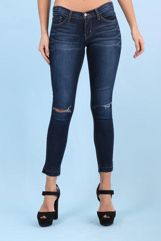 Flying Monkey Arctic Blue Cropped Skinny Jean