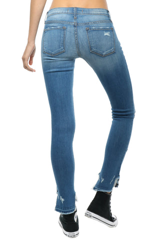 Flying Monkey Uneven Frayed Skinny