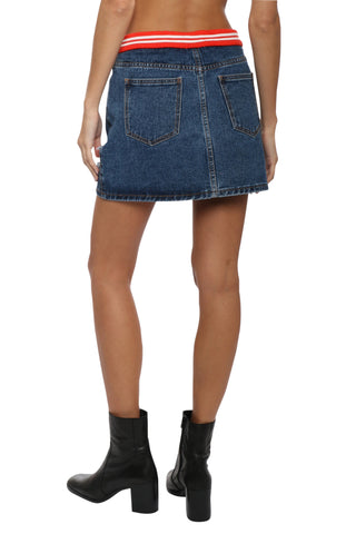 Proper Education Homecoming Denim Skirt