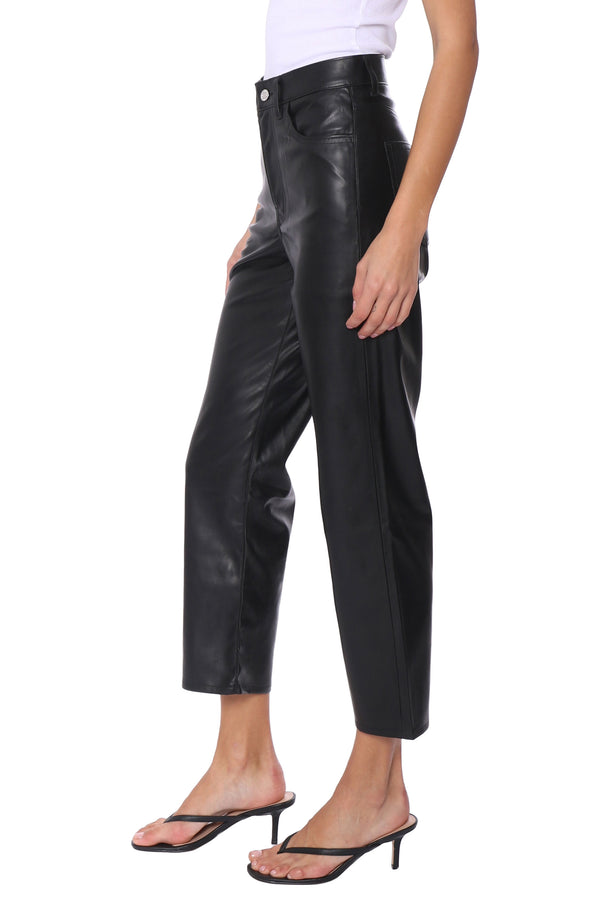 Faux Leather Ribcage Pants