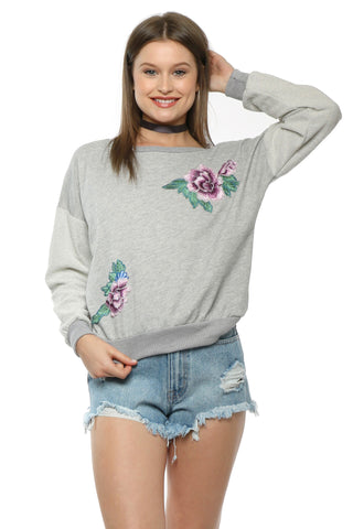 Gab & Kate Flower Embroidery Pullover