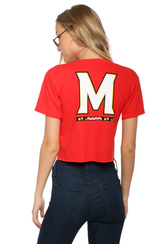 Retrobrand Maryland Zip Up Crop Tee