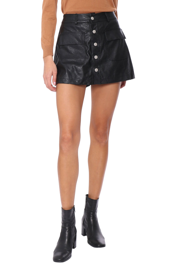 Harlee Faux Leather Shorts