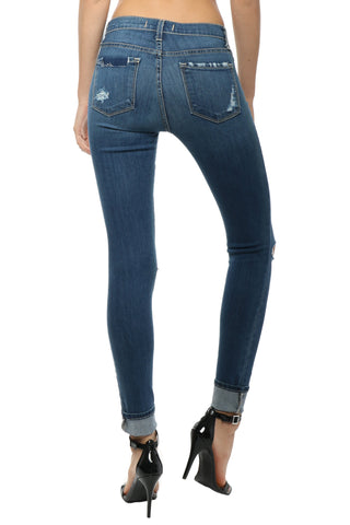 Flying Monkey High Waist Distressed Skinny