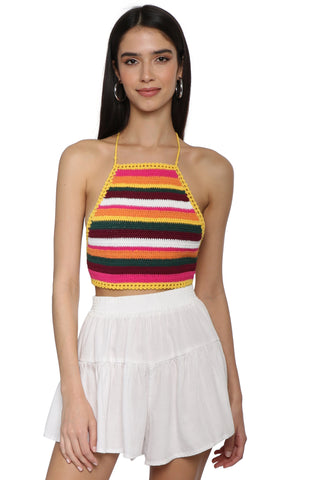 Gab & Kate Sienna Crochet Halter Top