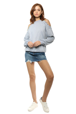 Gab & Kate Calypso Cold Shoulder Pullover