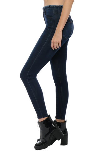 Just Black Fray Waistband Skinny