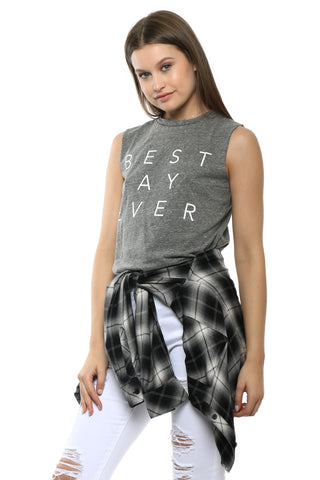 Good hYOUman Best Day Ever Muscle Tee