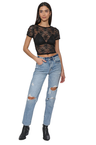 Jordyn Jagger Thrill Seeker Lacey Crop Top