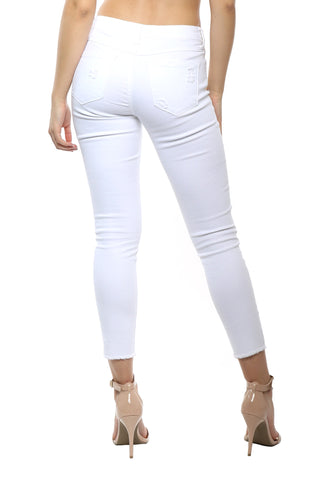Klique B Cropped Distressed Skinny Jean