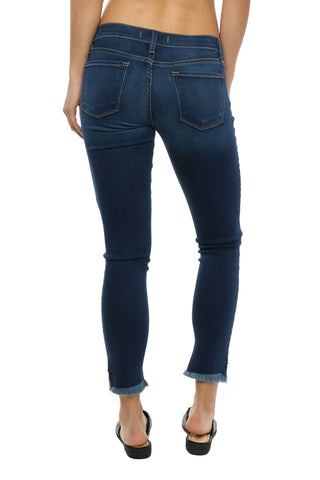 Flying Monkey High Low Cropped Skinny Jean
