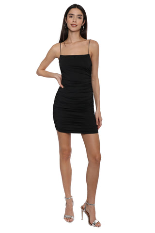Jordyn Jagger Fitted Ruche Dress