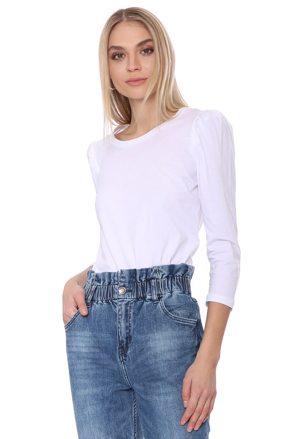 Simple Puff Sleeve Top