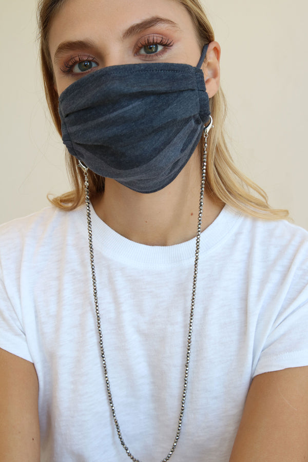 Georgia Gunmetal Face Mask Chain