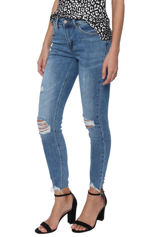 VERVET HR Distressed Cropped Skinny