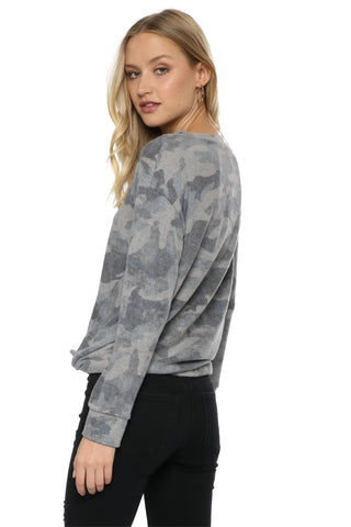 Jac Parker Brushed Camo Side Tie Pullover