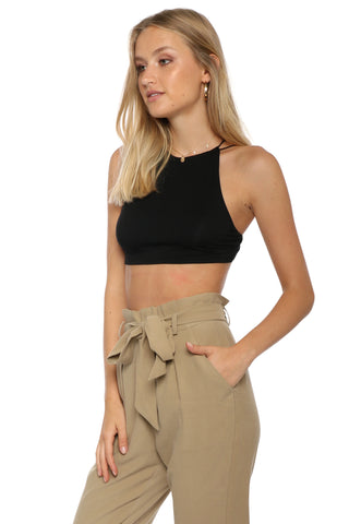 Jordyn Jagger Halter Strappy Back Crop Top