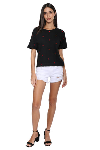 Gab & Kate Heart Embroidered Tee