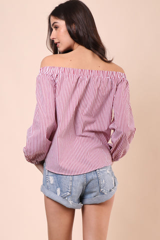 Gab & Kate Rincon Off The Shoulder Top