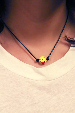 Emoji on a Cord Necklace