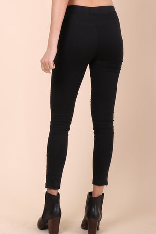 Brooklyn Karma Rough Rider Leggings - Black