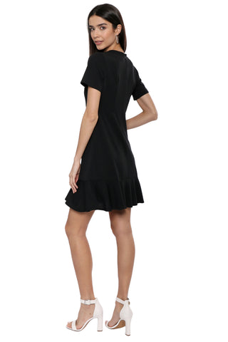 Bianca Ruffle Hem Dress