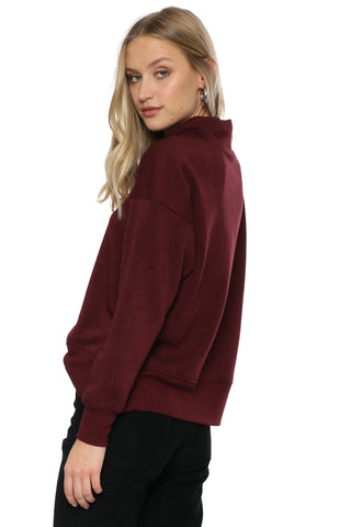 Z Supply The Loft Fleece Mock Neck Pullover