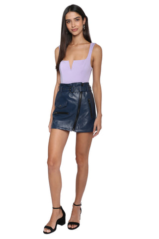 Brooklyn Karma Asymmetrical Zip Moto Skirt